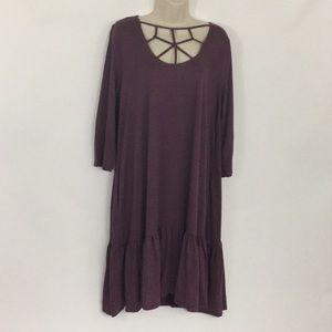 Plus Size Viscose Web Detail Dress